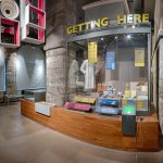The museum follows 3 themes, Getting Here, Made Here and Living Here