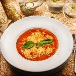 Zapečená paradajková polievka s bazalkou/ Fresh baked tomato soup with basilic
