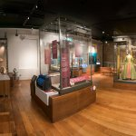 Upstairs gallery, featuring the Sheldon Tapestry