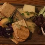Tasty and generous cheese board