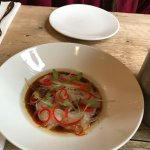 Plaice with soy and chilli