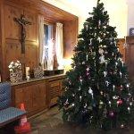 The lovely festive lobby