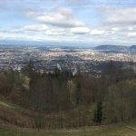 Blick nach Norden auf die Stadt Bern
