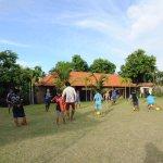 Football, bedminton & volleyball playground