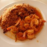rice and shrimps in local sauce