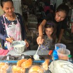 Making coconut cream crepes with Chin on Chili Paste Tour
