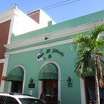 This is the front of the restaurant seen on Calle del Sol.