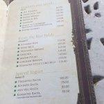 menu card - Chevron rosemount ranikhet