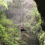 Rappelling down to the Rio Camuy