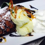 Warm Brownie with Ice Cream