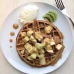 weekend brunch special: whole grain waffles with fruit