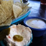 Traditional and Ole queso