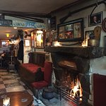 Warm up with a pint by the fire