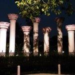 Beautifully light pillars inside Nehru Park