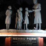 Idol of Pandit Nehru inside Nehru Park