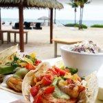 Gourmet shrimp tacos