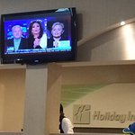 The manager refused to mute the loud Fox News at the front desk, even when I reminded him that t