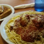 Spaghetti and meatballs. It was great, I highly recommend it.