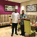 With Sous Chef Anirudh Amin