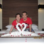 Our Anniversary Room arrangement by the hotel's staffs