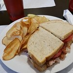 Turkey Club and Home Potato Chips