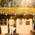 A warm welcome at the gatehouse upon arriving to Rancho Valencia.