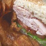 Turkey Sandwich with Truffle Potato Chips