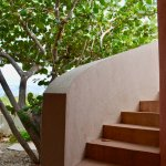 Stairs to the roof deck at Gardenia Villa