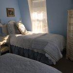 Room 7, two twins bed, ocean view, tv & bathroom