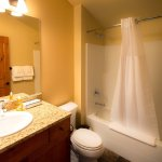 Bathroom with Queen Room in 2BR/2.5BA Townhouse