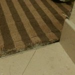 fraying carpet, sharp edges