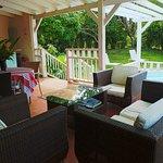 terrasse de la villa bungalow 2 chambres
