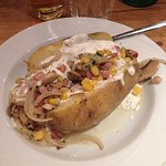 baked potato with very little vegetables!