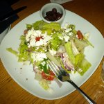Italian salad-tomatoes, red onions, peppers, feta, kalamata olives and vinaigrette dressing