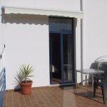 door to terrace from bedroom