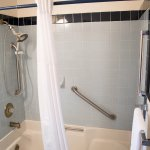 Standard bathtub/shower in all Captain and Ensign rooms.