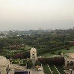 Taj and pool view