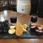 Port and cheese plate