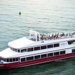 Cruising year-round with sunset dinner cruises, including Fireworks Dinner Cruises in the summer