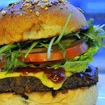 Smokey BBQ Mushroom Burger
