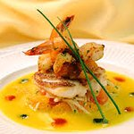 Fish medley on a saffron infusion