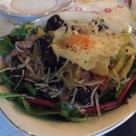 The black pudding salad was really interesting and tasty.