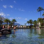 Looking from Pool to Hanalei Bay