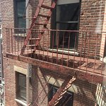 Neighbor's fire escape.