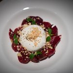 BURRATA, ROASTED BEETS, FENNEL, TOASTED PISTACHIOS, TARRAGON