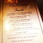 Great Happy Hour menu