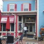 The Art Cafe located on S Broadway, near the Nyack Post Office in the village of Nyack, New York