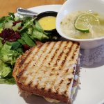 Napa Sandwich with soup & salad