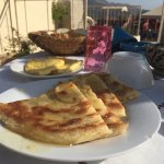 Delicious Moroccan pancakes on the terrace!