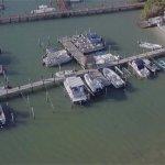Drone photo of marina